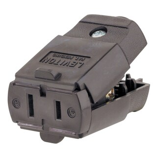 Leviton 015-00102-00P 125 Volt Brown Thermoplastic Cord Connector