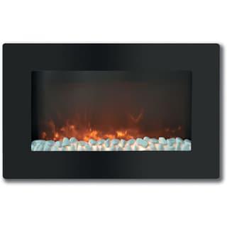 Cambridge Callisto 30-inch Wall-mount Flat Panel and Crystal Electronic Fireplace