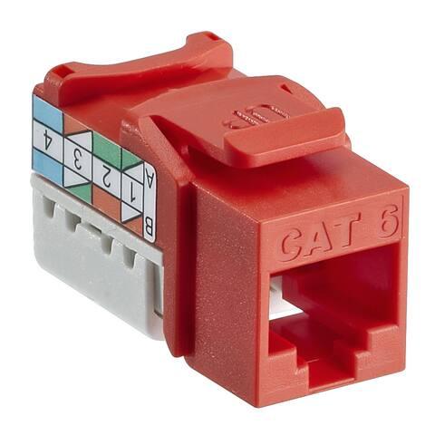 Leviton 127-61110-RO6 Orange 8 Wire CAT6 Quick Port Jack