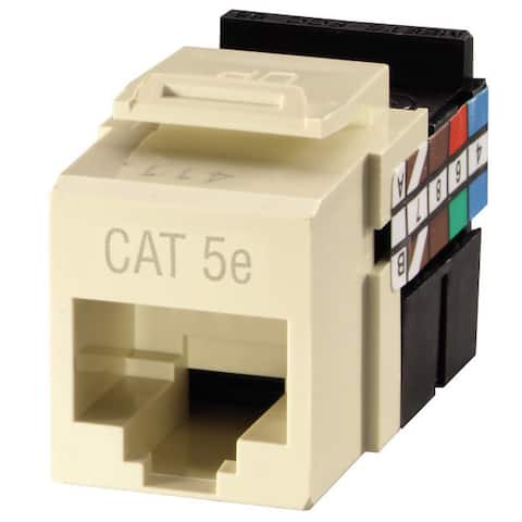 Leviton 133-61110-RT6 Almond GigaMax 5e Quickport Connector