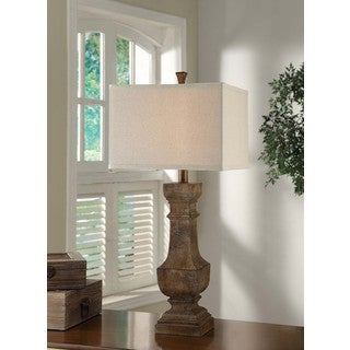 Crestview Collection 33.5 in. Distressed Wood Table Lamp