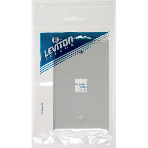 Leviton C12-41080-1WP Single Gang White QuickPort 1 Port Wallplate
