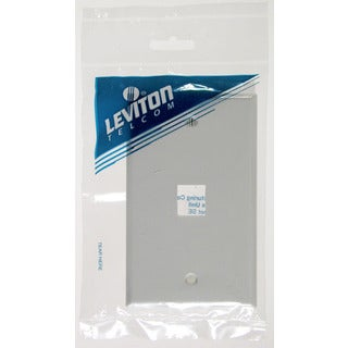 Leviton C12-41080-1WP Single Gang White QuickPort 1 Port Wallplate