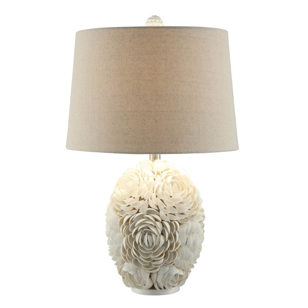 Calypso Shell White 24.5-inch Table Lamp