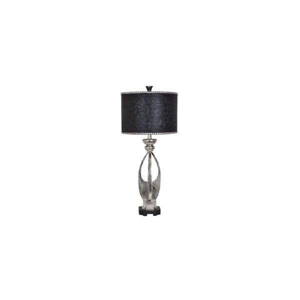 Crestview Collection 34.5-inch Silver Leaf Table Lamp