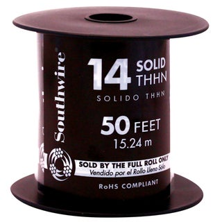 Southwire 11583241 50' 14 Gauge Solid Green Thhn Wire