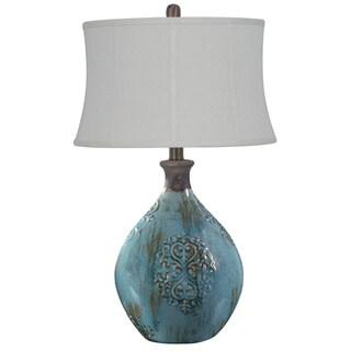 Linnet Azure Blue 29.5-inch Table Lamp