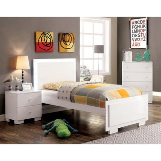 Furniture of America Isobelle Modern 3-piece White Youth Bedroom Set