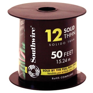 Southwire 11591537 50' 12 Gauge Solid Green Thhn Wire