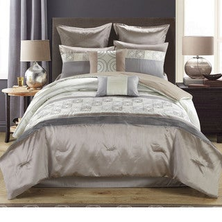 Athena 8-piece Reversible Neutral Toned Comforter Set