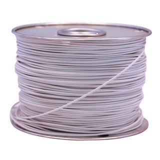 Southwire 55671423 100' X 12 Gauge White GPT Primary Wire Cable Principal
