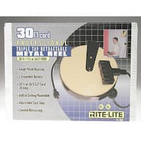 Bayco FL-800 Triple-Tap Extension Cord Retractable Reel