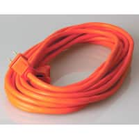 Coleman Cable 02207 25' Orange Vinyl Outdoor Extension Cord