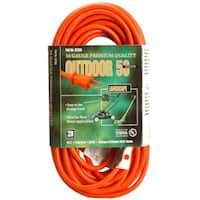 Coleman Cable 02208 50' Orange Vinyl Outdoor Extension Cord