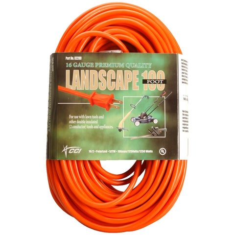 Coleman Cable 02209 100' Orange Vinyl Outdoor Extension Cord