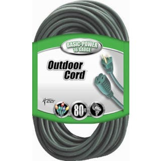 Coleman Cable 02353-8805 80' 16/3 Green 3 Conductor Vinyl Outdoor Landscape Ext Cord|https://ak1.ostkcdn.com/images/products/11768474/P18681573.jpg?impolicy=medium