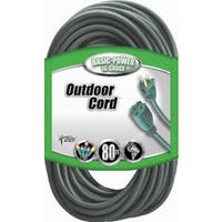 Coleman Cable 02353-8805 80' 16/3 Green 3 Conductor Vinyl Outdoor Landscape Ext Cord