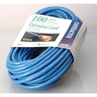 Coleman Cable 02369-06 100' 16/3 Blue Hi-Visibility/Low Temp Outdoor Extension Cord