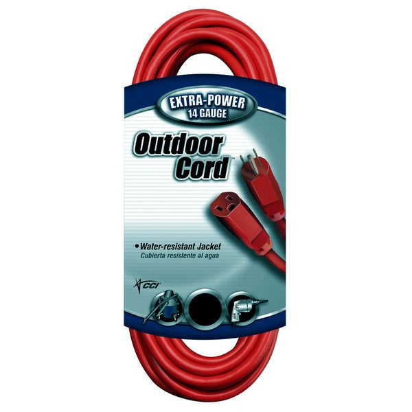 Shop Coleman Cable 02409 100\' 14/3 Red Extension Cord - Free ...