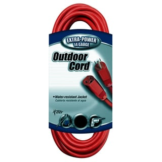Coleman Cable 02409 100' 14/3 Red Extension Cord