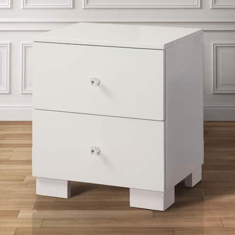 Isobelle Modern White 2-drawer Nightstand by FOA