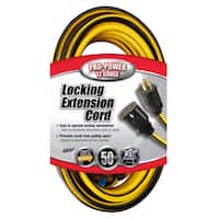 Coleman Cable 02538 50' 12/3 Push And Lock Extension Cord