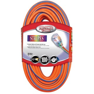 Coleman Cable 02549-3V 100' Orange & Blue 12/3 Outdoor Extension Cord