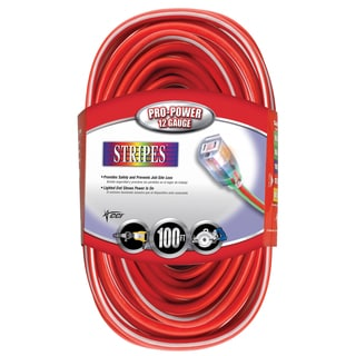 Coleman Cable 02549-41 100' Red & White 12/3 Outdoor Extension Cord