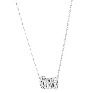 Sterling Silver or 14k Goldplated Silver Love Elegant Script Necklace