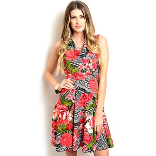 Shop the Trends Women's Sleeveless A-line Dress