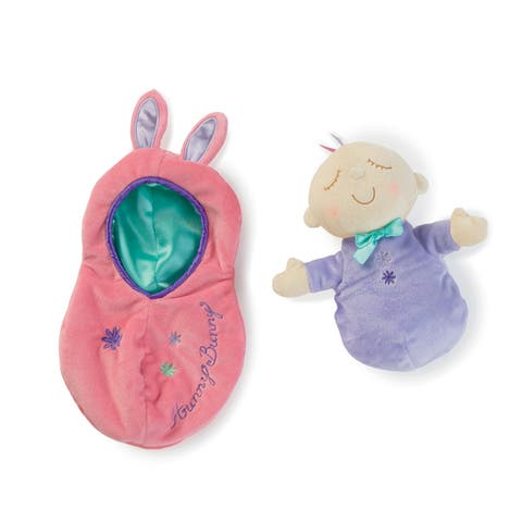 Manhattan Toy Snuggle Pods Hunny Bunny Baby Doll - Pink/Purple