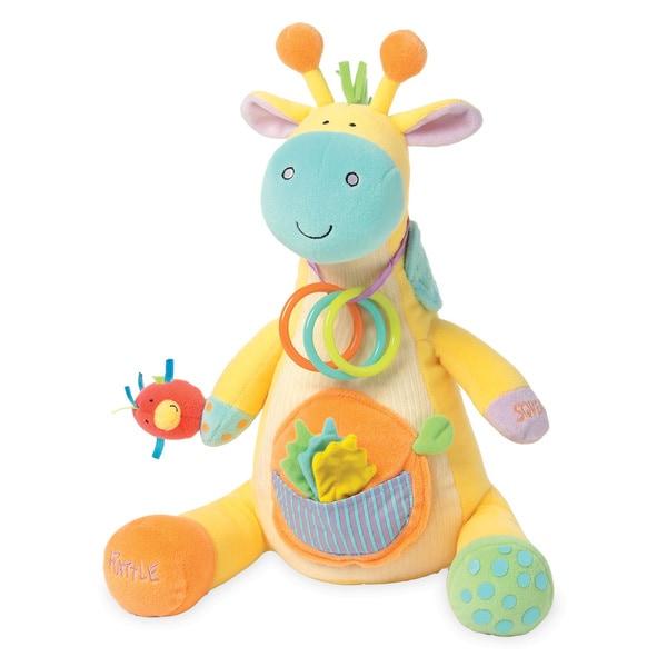 Manhattan Toy Peek-Squeak Giraffe Plush Toy