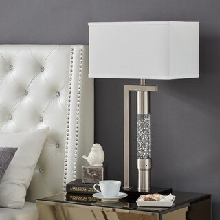 iNSPIRE Q Bold Silver Iron/Metal Tiffany-style Dancing Water Table Lamp