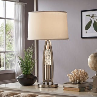 Hinsdale Nickel Finish Dancing Water Table Lamp