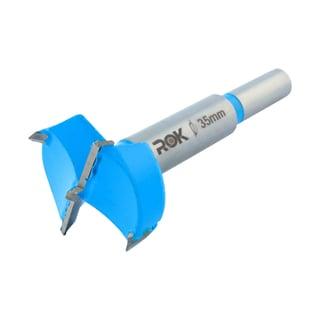 Rok Hardware 35mm Hinge Boring Forstner Drill Bit Blue