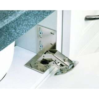 Rev-A-Shelf Euro Face Frame Tip-Out Tray Hinge Chrome
