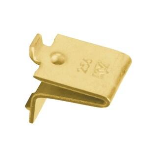 Knape and Vogt Adjustable Steel Pilaster Shelf Support Clip Brass (Pack of 20)