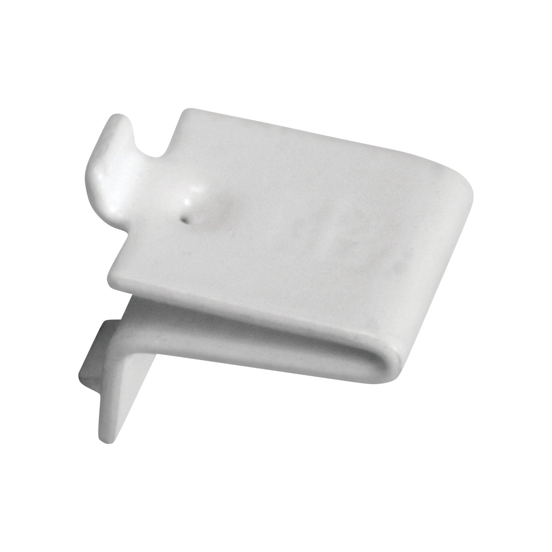 Pack of 20 Knape /& Vogt Knape and Vogt Adjustable Steel Pilaster Shelf Support Clip Zinc