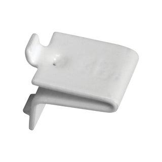 Knape and Vogt Adjustable Steel Pilaster Shelf Support Clip White (Pack of 20)