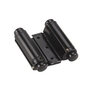 Rok Hardware Double Action Steel Spring Hinge Flat Black (Set of 2)