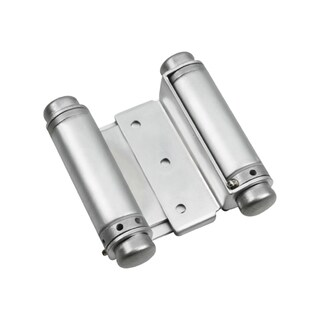 Rok Hardware Double Action Steel Spring Hinge Satin Chrome (Set of 2)
