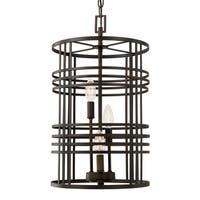 Capital Lighting Transitional 3-light Old Bronze Foyer Fixture
