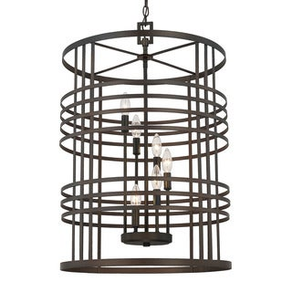 Capital Lighting Transitional 6-light Old Bronze Foyer Fixture