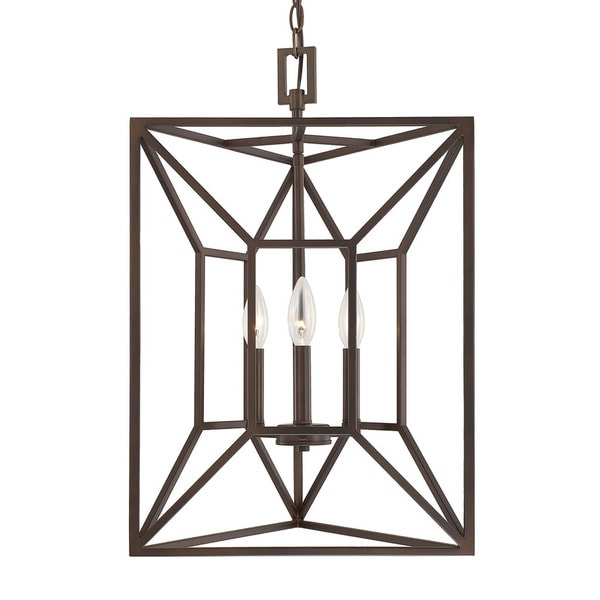 Capital Lighting Transitional 3-light Burnished Bronze Foyer Fixture