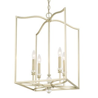 Capital Lighting Windsor Collection 4-light Soft Gold Foyer Fixture