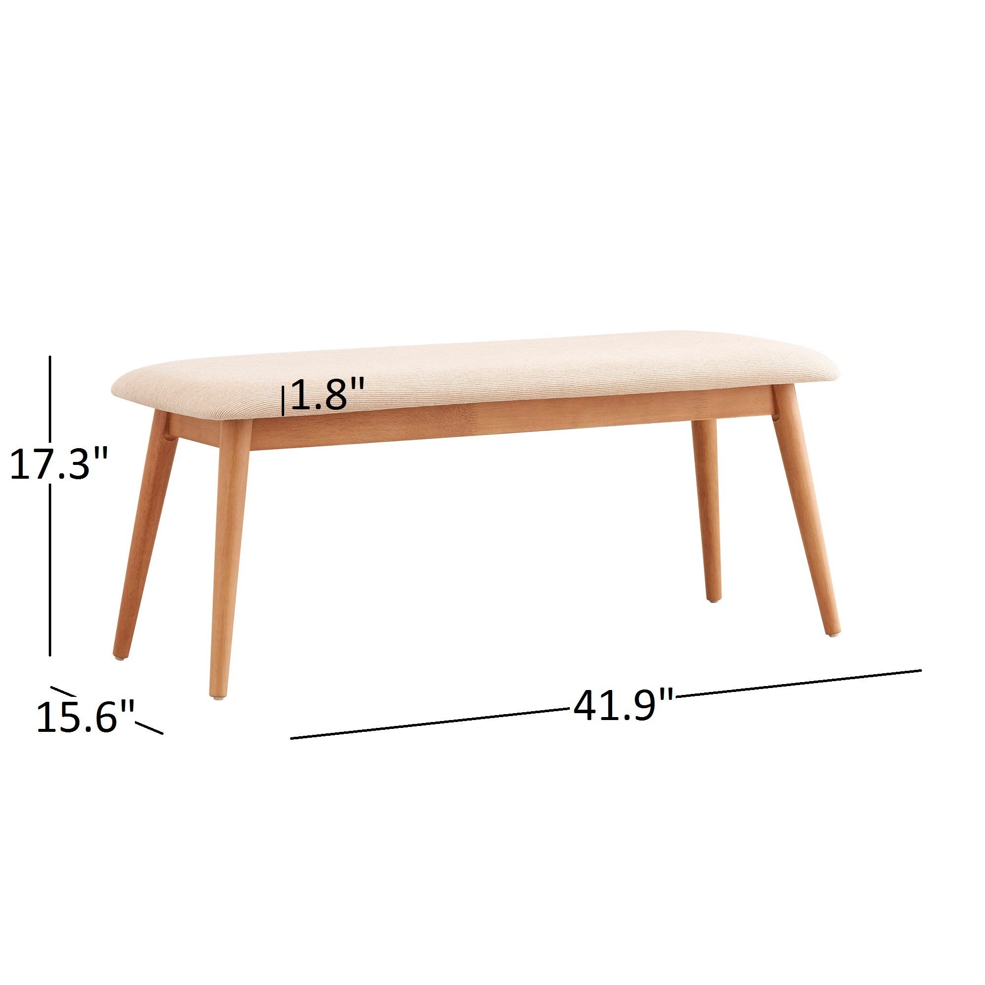Image of: Shop Black Friday Deals On Norwegian Danish Modern Tapered Upholstered Dining Bench Inspire Q Modern Dining Bench On Sale Overstock 20882573