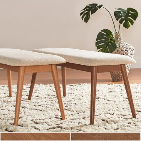 Norwegian Danish Modern Tapered Upholstered Dining Bench iNSPIRE Q Modern - Dining Bench