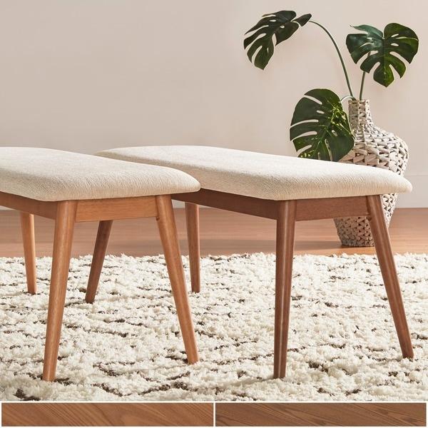 Norwegian Danish Modern Tapered Upholstered Dining Bench INSPIRE Q Modern