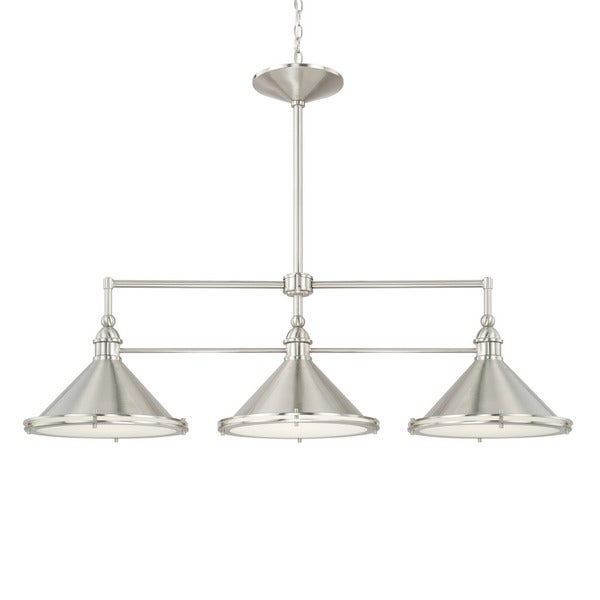 Shop Capital Lighting Langley Collection 3 Light Brushed
