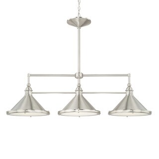 Capital Lighting Langley Collection 3-light Brushed Nickel Island Pendant
